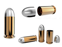 Bullets Isolated Royalty Free Stock Photo