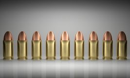 Bullets Line Up Royalty Free Stock Image