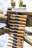 Bullets and machine gun Stock Photos