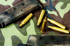 Bullets and magazine Stock Image