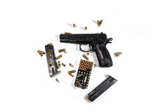 Bullets and magazines Royalty Free Stock Photos