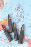 Bullets on the map of Philippines Royalty Free Stock Image