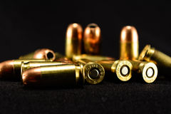 Bullets On Black Background, Selective Focus Foreground Stock Images