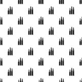 Bullets pattern, simple style Royalty Free Stock Images