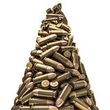 Bullets peak. 3D render of 9 mm bullets Stock Photography