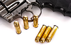 Bullets and revolver Royalty Free Stock Photography