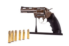 Bullets and revolver. Royalty Free Stock Photos