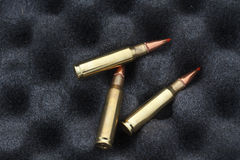 Bullets for rifle. Bullet in the box. Royalty Free Stock Image