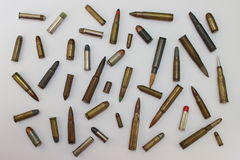 Bullets for rifle and hand gun Royalty Free Stock Image