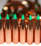 Bullets in a row royalty free stock photo