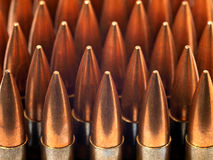 Bullets in a row Stock Photos