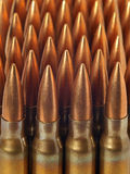 Bullets in a row Royalty Free Stock Photography