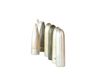 Bullets in a row. Stock Image