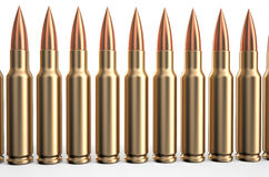 Bullets in a row Royalty Free Stock Images