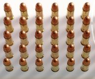 Bullets in a Row Stock Images