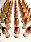 Bullets in a Row Stock Photography