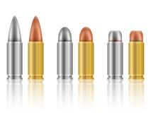 Bullets set Stock Image