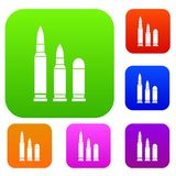 Bullets set collection Royalty Free Stock Images
