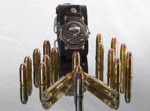 Bullets and Skull Stock Images