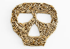 Bullets of skull Stock Image
