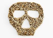 Bullets of skull. Many bullets in the shape of skull Stock Image