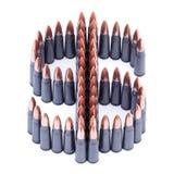 Bullets symbol of dollar Royalty Free Stock Photography