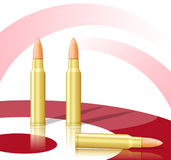Bullets and target Stock Photography
