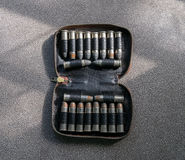 Bullets two types in case Royalty Free Stock Images