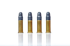 Bullets. 0.22 Bullets on white background Royalty Free Stock Images