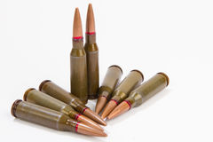 Bullets on a white background Stock Photo