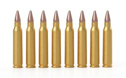 Bullets on the white background. 3D rendering vector illustration
