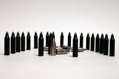Bullets on the white background Stock Image