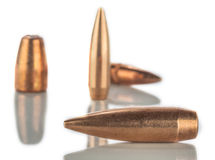 Bullets on white background with reflection Royalty Free Stock Images