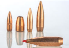 Bullets on white background with reflection Royalty Free Stock Image