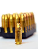Bullets on white background Stock Image