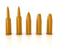 Bullets  on white. 3d bullets  on white Stock Images