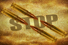Bullets and word Stop Stock Image
