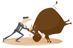 bullfight Royalty-vrije Stock Afbeeldingen