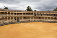 Bullfight Arena. The picture shows an empty bullfight arena royalty free stock photography