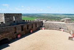 Bullfight arena. Castle and bullfight arena in portugal Royalty Free Stock Images