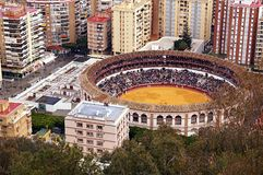 Bullfight-arena in Malága, Spain Stock Photos