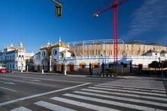 Bullfight arena, Plac De Toros przy Sevilla Obrazy Stock
