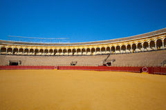 Bullfight arena, plaza de toros at Sevilla, Spain Stock Photos