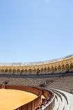 Bullfight arena, plaza de toros in Seville,La Maestranza Stock Photos