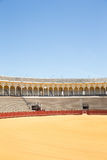 Bullfight arena, plaza de toros in Seville,La Maestranza Royalty Free Stock Photography