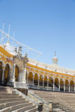 Bullfight arena, plaza de toros in Seville,La Maestranza Stock Image