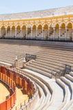 Bullfight arena, plaza de toros in Seville,La Maestranza Stock Photo