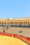 Bullfight arena, plaza de toros in Seville,La Maestranza Royalty Free Stock Images