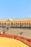 Bullfight arena, plaza de toros in Seville,La Maestranza Royalty Free Stock Images