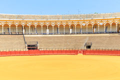Bullfight arena, plaza de toros in Seville,La Maestranza Royalty Free Stock Photos